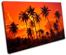 Palm Trees Sunset Seascape - 13-1829(00B)-SG32-LO